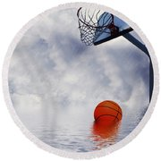 Rained Out Game Round Beach Towel