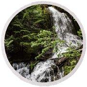 Rainforest Falls Round Beach Towel