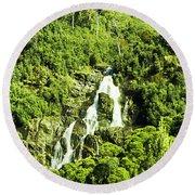 Rainforest Rapids Round Beach Towel