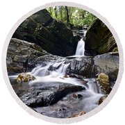 Rainforest Stream Round Beach Towel