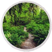 Rainforest Trail Round Beach Towel