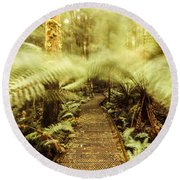 Rainforest Walk Round Beach Towel