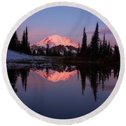 Rainier Sunrise Round Beach Towel