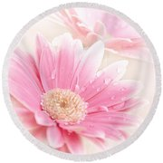 Raining Petals Round Beach Towel