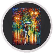 Rainy Dance Round Beach Towel