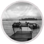 Rainy Day Dock Round Beach Towel