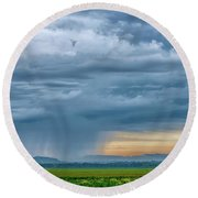 Rainy Days Round Beach Towel