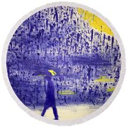 Rainy Night Round Beach Towel