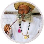 Rajasthani Elder Round Beach Towel