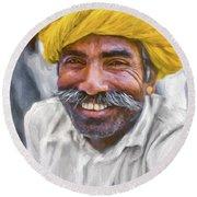 Rajput High School Teacher - Paint Round Beach Towel