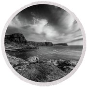 Ramasaig Bay Neist Point Round Beach Towel