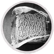 Ramen- Black And White Photography By Linda Woods Round Beach Towel
