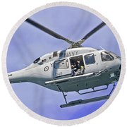 Ran N49 Bell 429 Global Ranger N49-048 Round Beach Towel