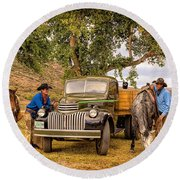 Ranch Hands Round Beach Towel