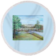 Ranch Rd Round Beach Towel