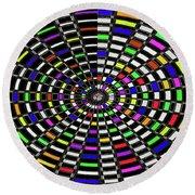 Random Color Oval Abstract Round Beach Towel