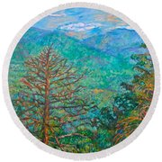 Ranges By Arnold Valley Round Beach Towel