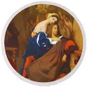 Raphael And Fornarina 1840 Round Beach Towel
