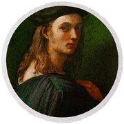 Raphael Portrait Of Bindo Altoviti Round Beach Towel