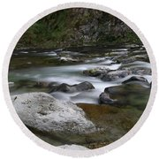 Rapids On The Washougal River Round Beach Towel