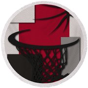 Raptors Hoop Round Beach Towel