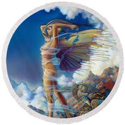 Rapture And The Ecstasea Round Beach Towel