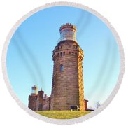 Rapunzels Tower Round Beach Towel
