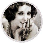 Raquel Torres, Vintage Actress Round Beach Towel