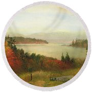 Raquette Lake Round Beach Towel