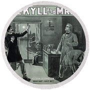 Rare Dr. Jekyll And Mr. Hyde Transformation Poster Round Beach Towel