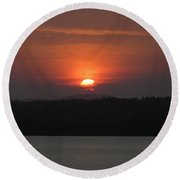 Rare Sunset 2 Round Beach Towel