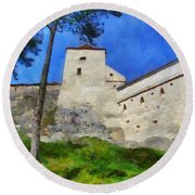Rasnov Fortress Round Beach Towel