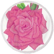 Raspberry Pink Round Beach Towel