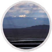Rathtrevor Beach On Vancouver Island In British Columbia Round Beach Towel