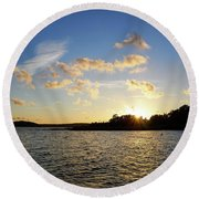 Raumanmeri Sunset Round Beach Towel
