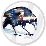 Raven Shadow From Vancouver Round Beach Towel