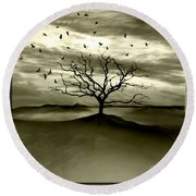 Raven Valley Round Beach Towel by Jacky Gerritsen