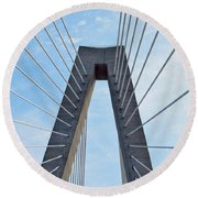 Ravenel Bridge Charleston Round Beach Towel