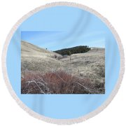 Ravine Access Round Beach Towel