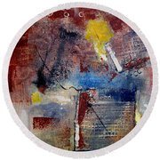 Raw Emotions II Round Beach Towel