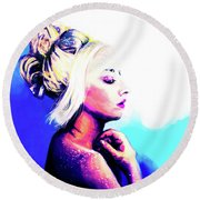 Raw Round Beach Towel