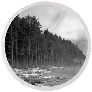 Raw Nature Round Beach Towel