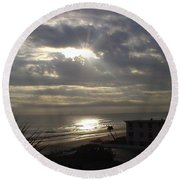 Ray Of Light Round Beach Towel