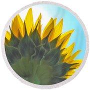 Ray Of Sunflower Round Beach Towel