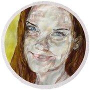 Rayah Newman, Portrait Round Beach Towel