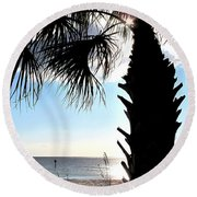 Raymonds Afternoon Sun Round Beach Towel
