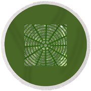 Rays And Circles Abstract 01 Round Beach Towel