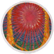 Rays Of Life Round Beach Towel