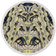Rca Lyra Pattern Round Beach Towel
