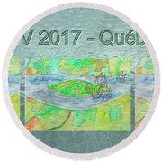 Rdv 2017 Quebec Mug Shot Round Beach Towel